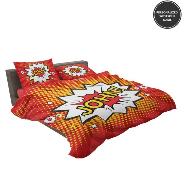 Superhero Theme Comic Personalized Custom Bedding Set 3