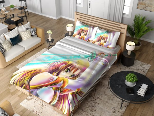 Sword Art Anime Girl Bedding Set 4