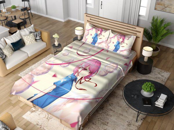 Teen Japanese Anime Girl Bedding Set 4