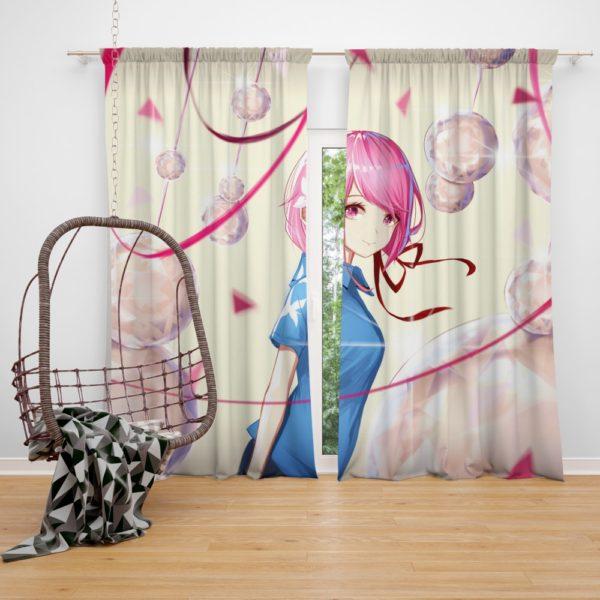 Teen Japanese Anime Girl Bedroom Window Curtain