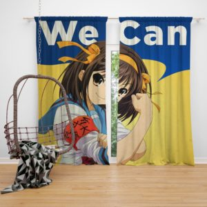 The Melancholy of Haruhi Suzumiya Bedroom Window Curtain