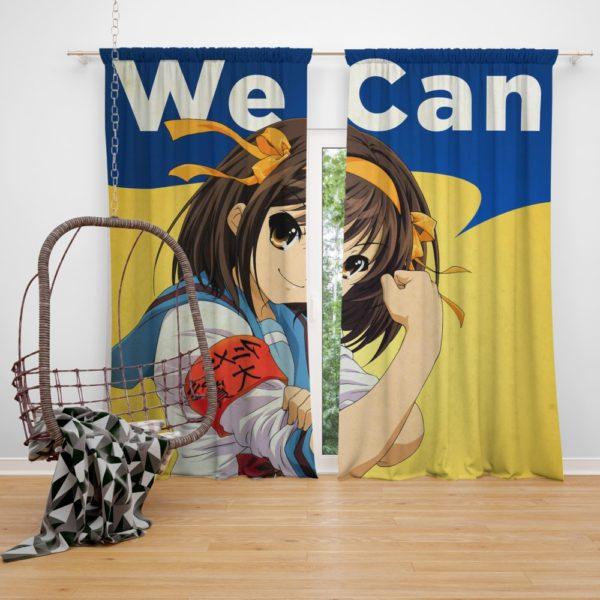 The Melancholy of Haruhi Suzumiya Bedroom Window Curtain
