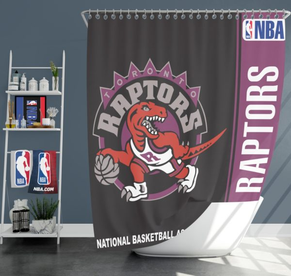 Toronto Raptors NBA Basketball Bathroom Shower Curtain