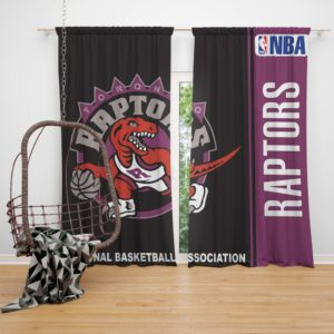 Toronto Raptors NBA Basketball Bedroom Window Curtain