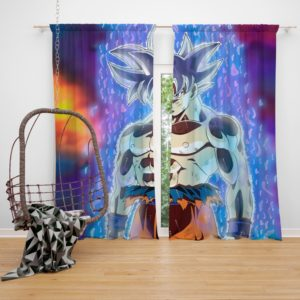 Ultra Instinct Goku Bedroom Window Curtain