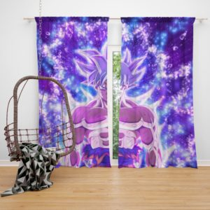 Ultra Instinct Goku Dragon Ball Super Anime Bedroom Window Curtain