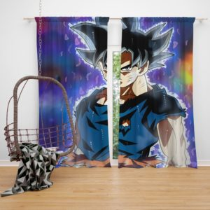 Ultra Instinct Goku Dragon Ball Super Bedroom Window Curtain