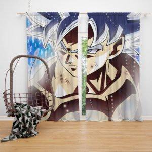 Ultra Instinct Goku Teen Bedroom Window Curtain