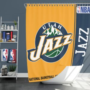 Utah Jazz NBA Basketball Bathroom Shower Curtain