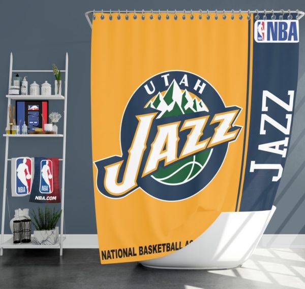 Utah Jazz NBA Basketball Bathroom Shower Curtain