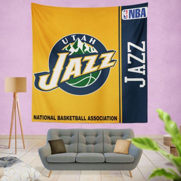 Utah Jazz NBA Basketball Bedroom Wall Hanging Tapestry