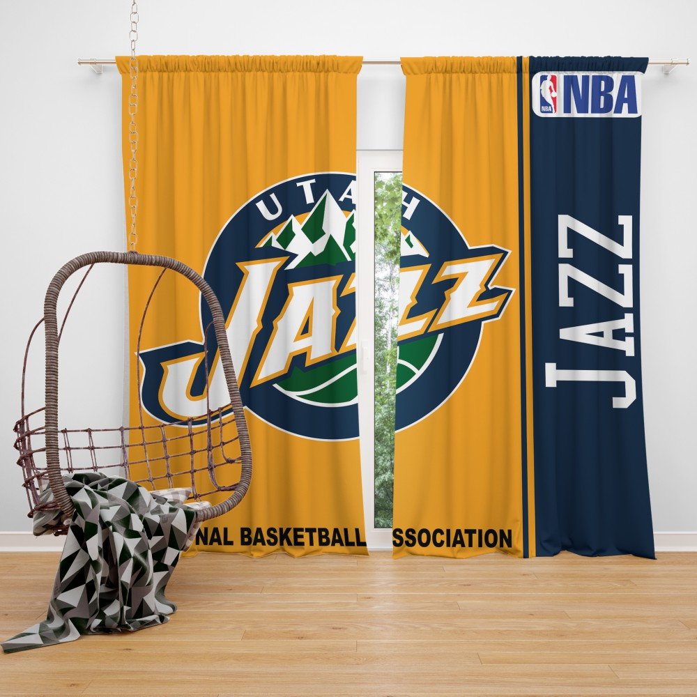Utah Jazz NBA Basketball Bedroom Window Curtain