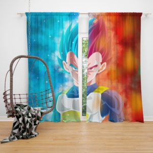 Vegeta Anime Boy Bedroom Window Curtain