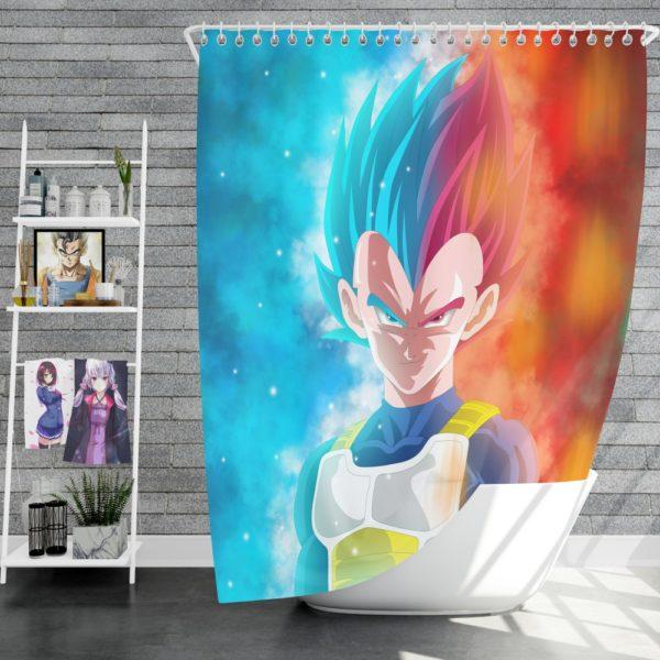 Vegeta Anime Boy Shower Curtain