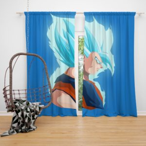 Vegeta Dragon Ball Minimal Design Bedroom Window Curtain