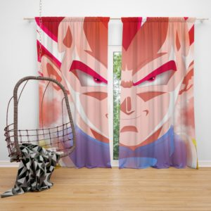 Vegeta Dragon Ball Super Anime Bedroom Window Curtain