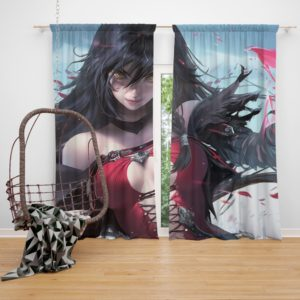 Velvet Crowe Hot Anime Girl Bedroom Window Curtain