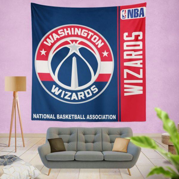 Washington Wizards NBA Basketball Bedroom Wall Hanging Tapestry