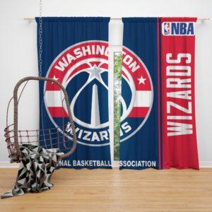 Washington Wizards NBA Basketball Bedroom Window Curtain