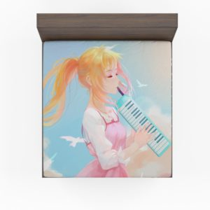 Your Lie In April Kaori Miyazono Fitted Sheet