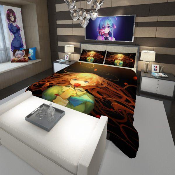 Anime Girl Rose Comforter 3