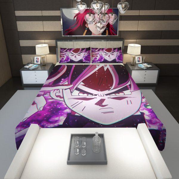 Goku Black Super Saiyan Rose Comforter 1