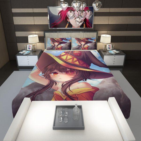 Megumin Konosuba Fairy Tail Anime Comforter 1