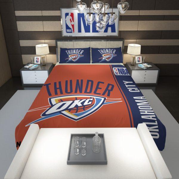 Oklahoma City Thunder NBA Basketball Comforter 1