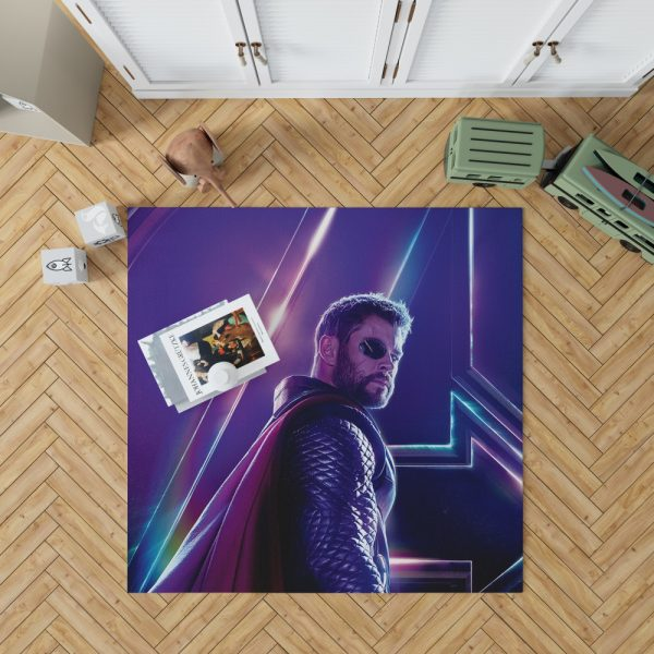 Avengers Infinity War Chris Hemsworth Thor Bedroom Living Room Floor Carpet Rug 1