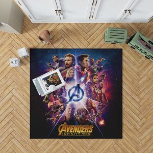 Avengers Infinity War Marvel Comic Movie Bedroom Living Room Floor Carpet Rug 1