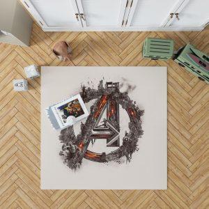 Avengers Logo Print Bedroom Living Room Floor Carpet Rug 1