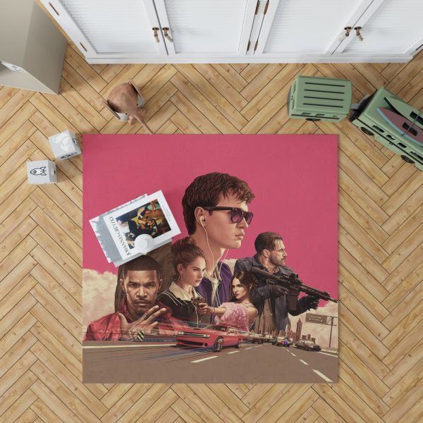 Baby Driver Movie Kids Bedroom Living Room Floor Carpet Rug 1
