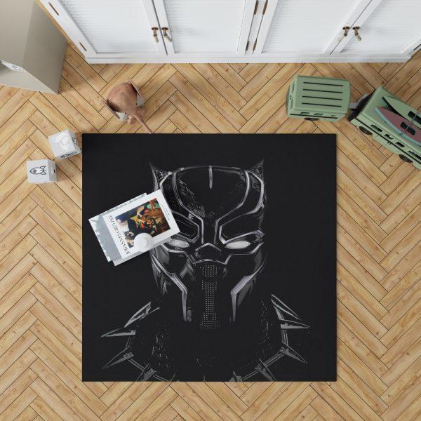 Black Panther Artwork Movie Bedroom Living Room Floor Carpet Rug 1