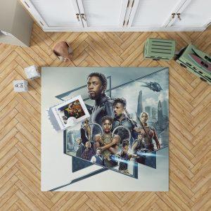 Black Panther Bedroom Bedroom Living Room Floor Carpet Rug 1