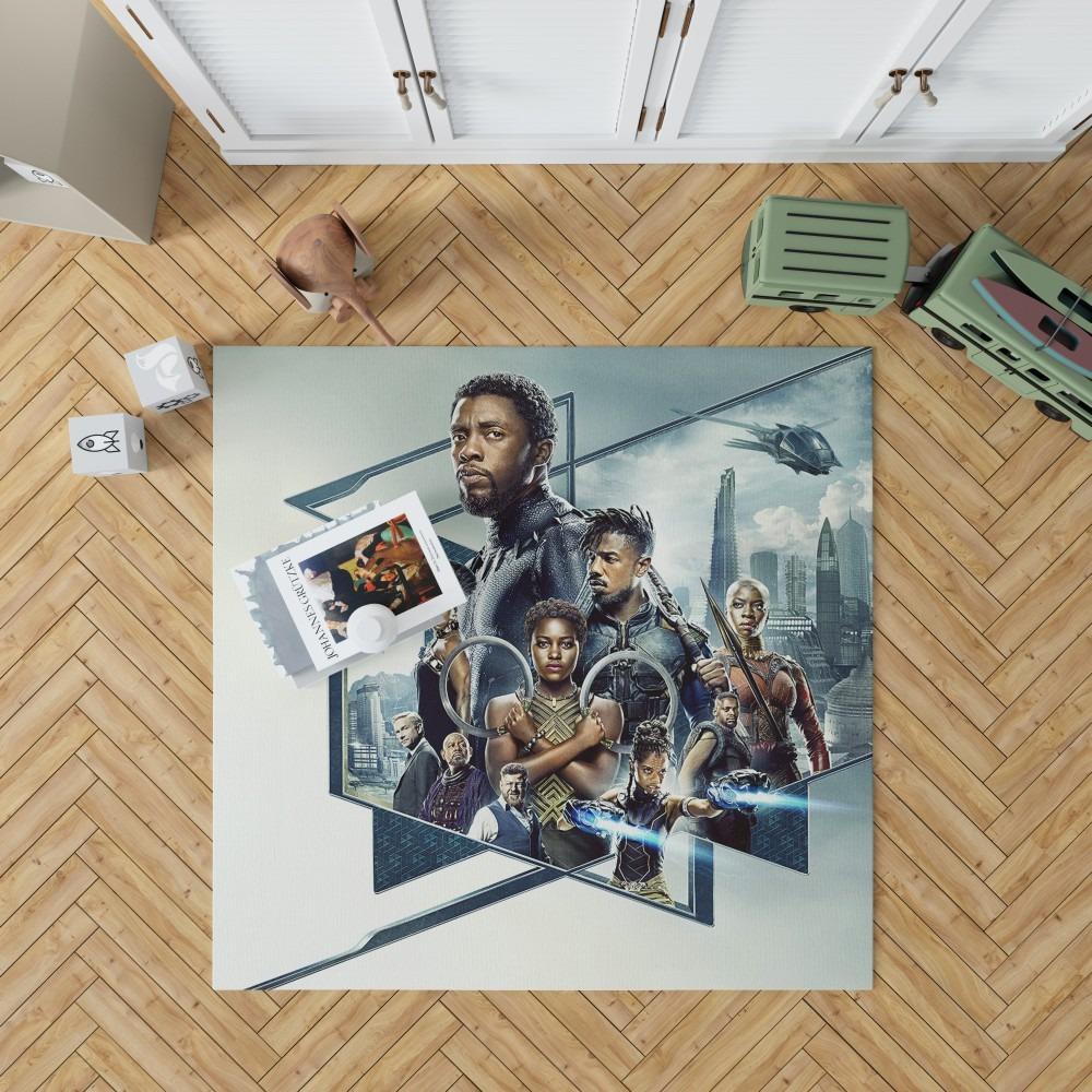 Black Panther Bedroom Bedroom Living Room Floor Carpet Rug