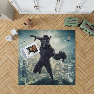 Black Panther Kids Teen Bedroom Living Room Floor Carpet Rug 1