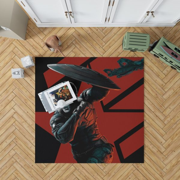 Captain America Chris Evans Marvel Comics Bedroom Living Room Floor Carpet Rug 1