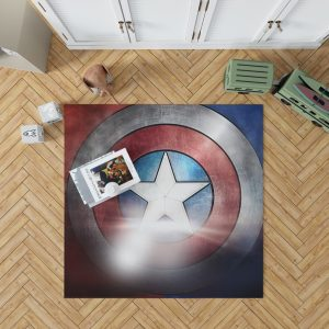 Captain America Shield American Marvel Bedroom Living Room Floor Carpet Rug 1