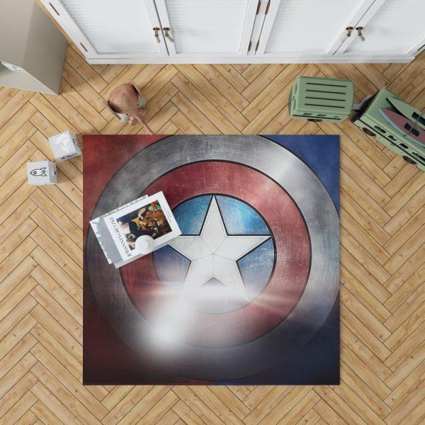 Captain America Shield American Marvel Bedroom Living Room Floor Carpet Rug 1