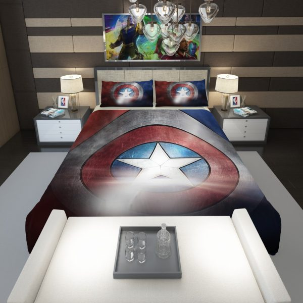 Captain America Shield American Marvel Comforter 1