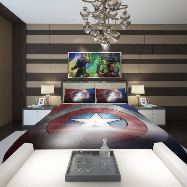 Captain America Shield American Marvel Comforter 2