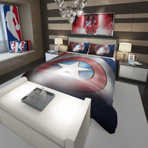 Captain America Shield American Marvel Comforter 3