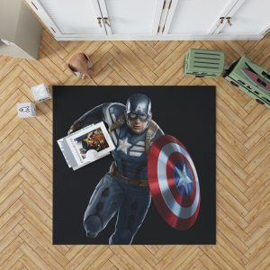 Captain America Superheroes Marvel Comics Bedroom Living Room Floor Carpet Rug 1