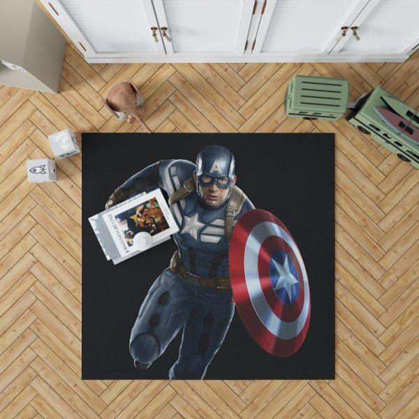 Captain America Superheroes Marvel Comics Bedroom Living Room Floor Carpet Rug 1