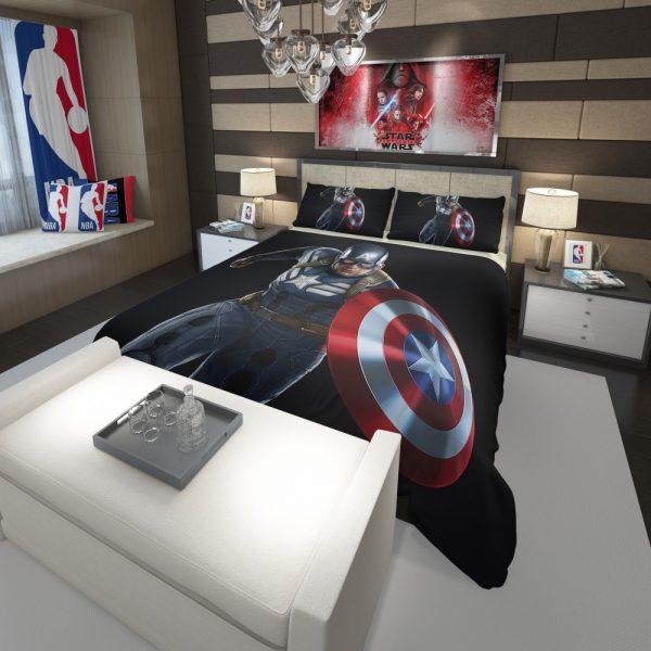 Captain America Superheroes Marvel Comics Comforter 3