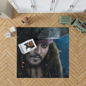 Captain Jack Sparrow Johnny Depp Bedroom Living Room Floor Carpet Rug 1