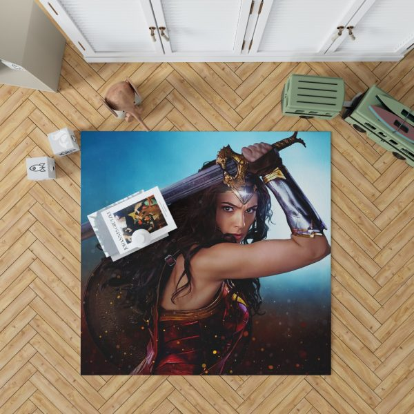 DC Comics Super Heroine Wonder Woman Bedroom Living Room Floor Carpet Rug 1