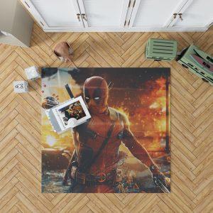 Deadpool Artwork Super Hero Bedroom Living Room Floor Carpet Rug 1