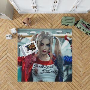 Harley Quinn Cosplay Suicide Squad Bedroom Living Room Floor Carpet Rug 1