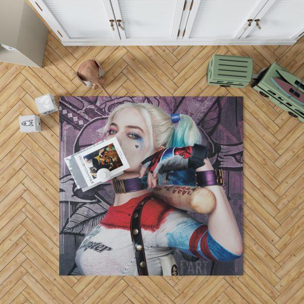Harley Quinn Suicide Squad Margot Robbie Bedroom Living Room Floor Carpet Rug 1